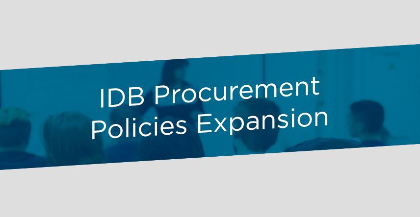 IDB Procurement policies expansion | IADB
